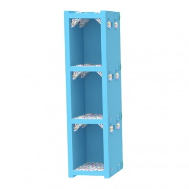 Blue Vertical Bookcase