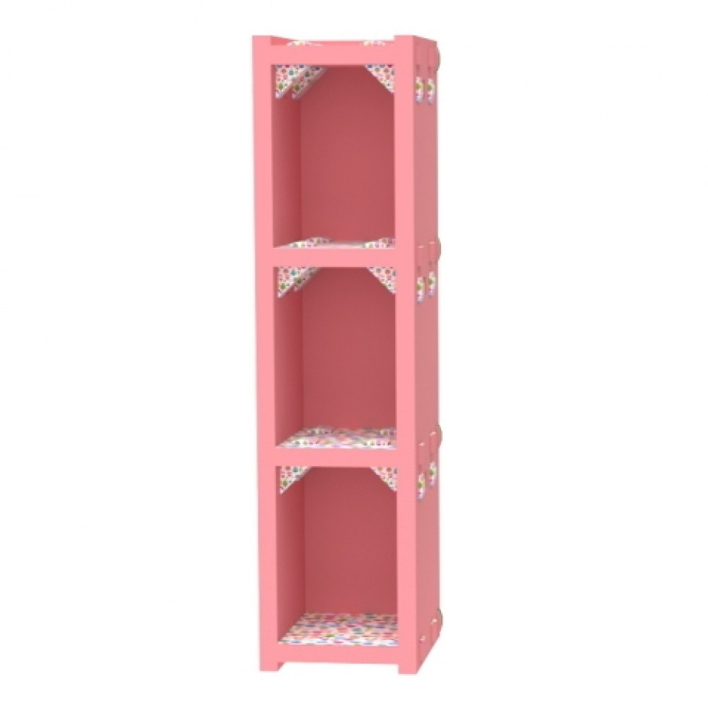Pink Vertical Bookcase