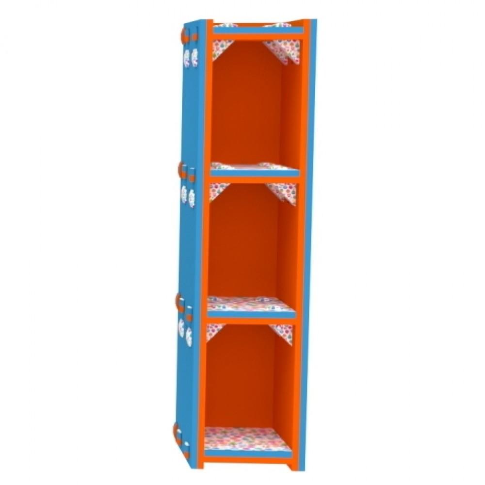 Orange/Blue Vertical Bookcase