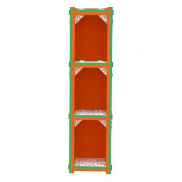 Orange/Green Vertical Bookcase
