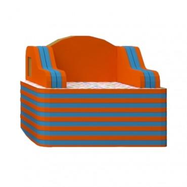 Orange/Blue Armchair