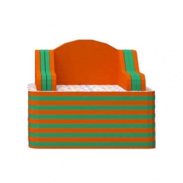 Orange/Green Armchair