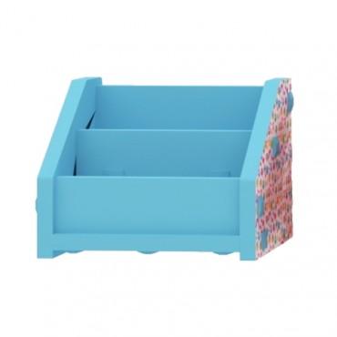 Blue Horizontal Bookcase