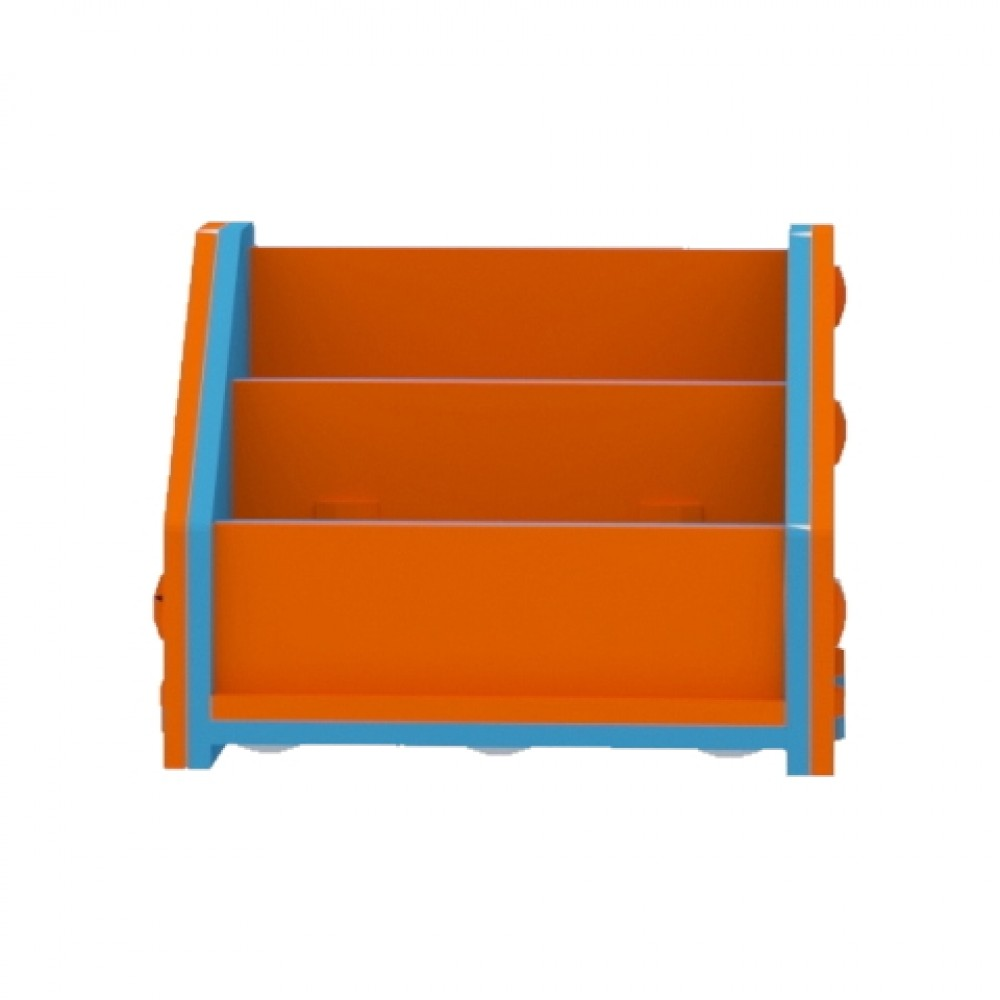 Orange/Blue Horizontal Bookcase