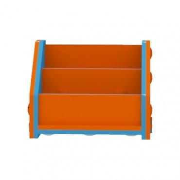 Orange/Blue Horizontal Bookcase