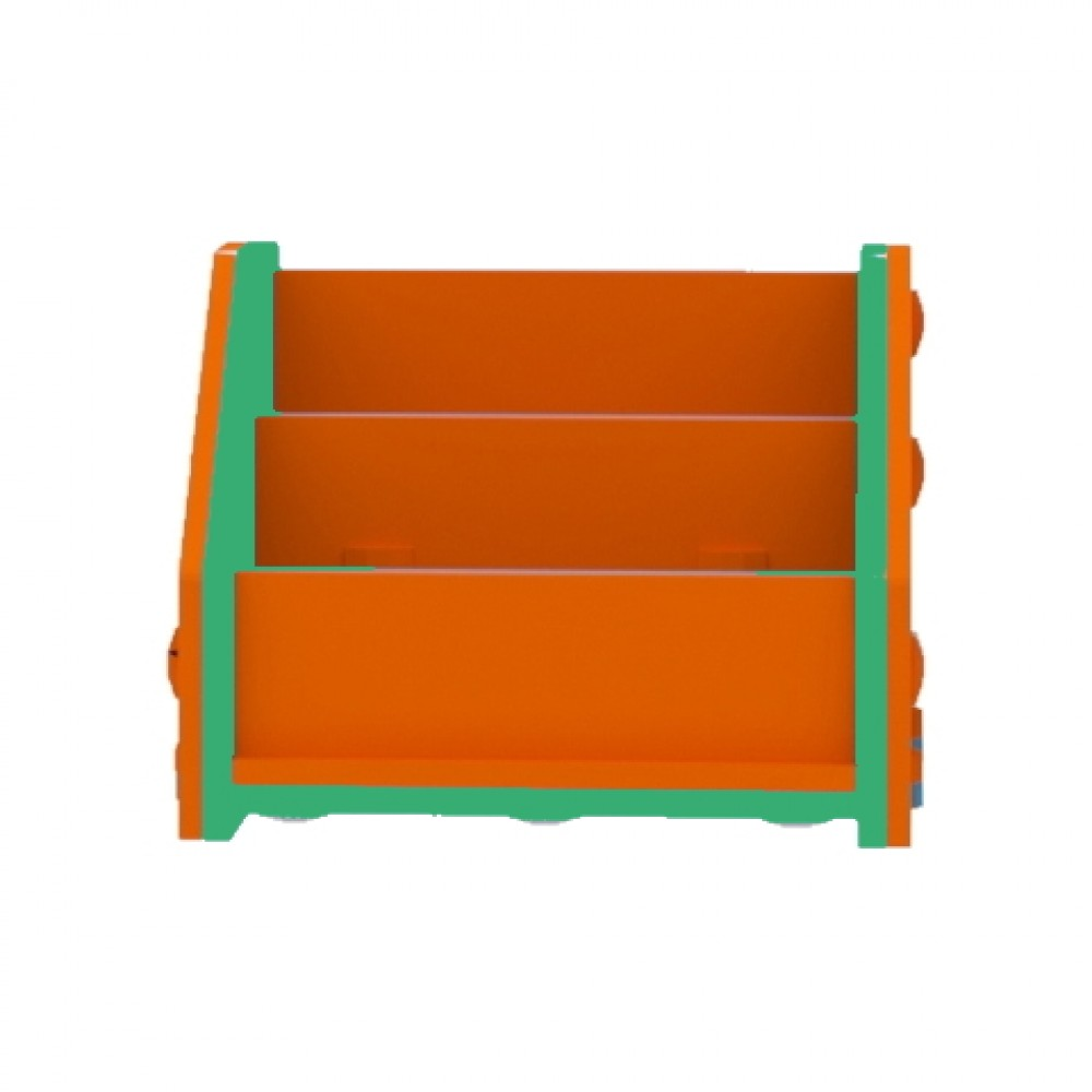 Orange/Green Horizontal Bookcase