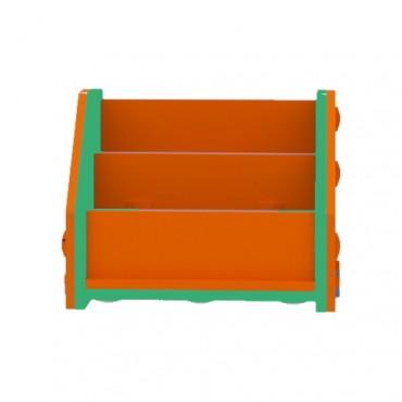 Orange/Green Horizontal Bookcase